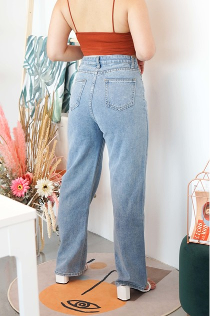 On The Move Wide Legged Jeans in Blue